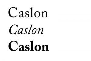 autoedición tipografia Caslon