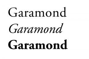 autoedición tipografia Garamond