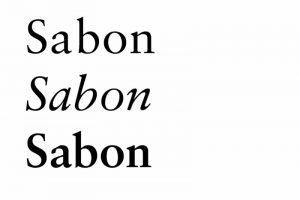 Tipografia Sabon autoedición