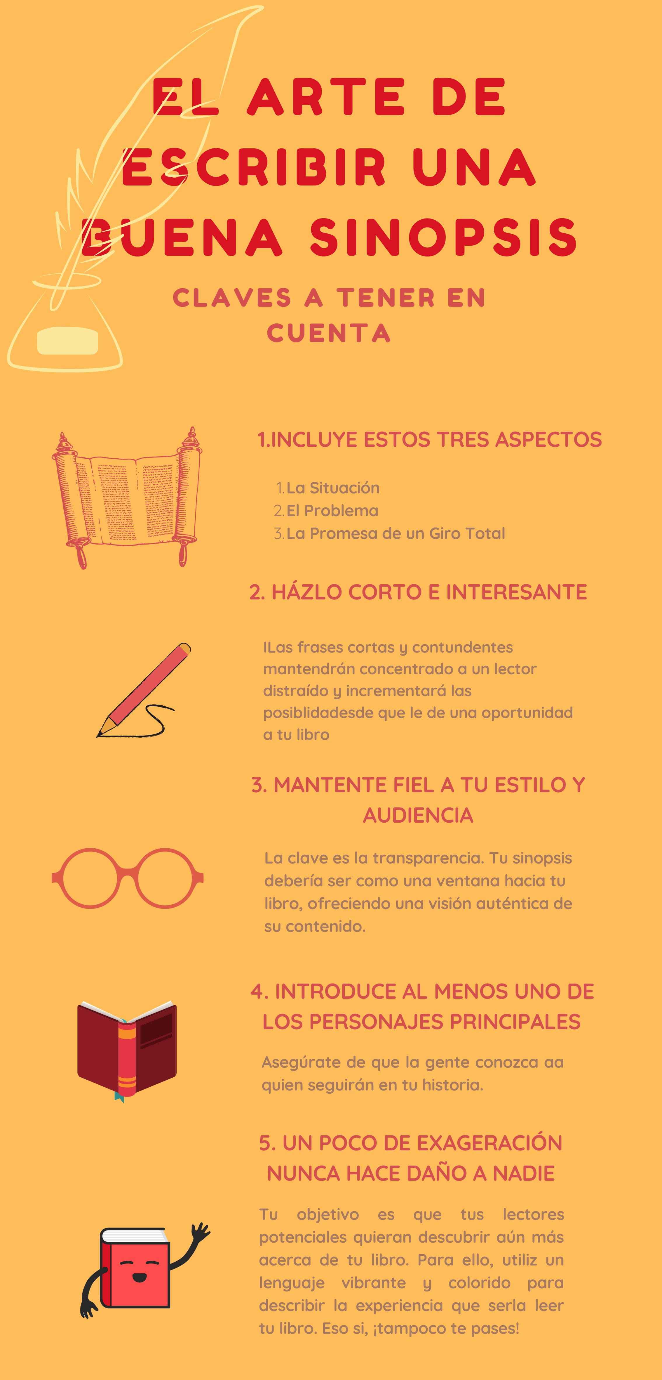 tips para escribir una sinopsis para tu libro